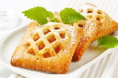 Меньшие пироги абрикоса стоковое изображение rf