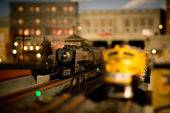 Меньшие поезда игрушки Стоковые Фотографии RF