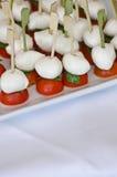 Меньшие томаты и базилик mozzarella Стоковая Фотография RF