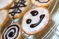 Меньший американский торт smiley стоковые фото
