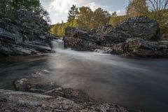 Меньший водопад перед деревьями Стоковые Изображения