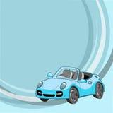 Меньший голубой автомобиль Стоковая Фотография