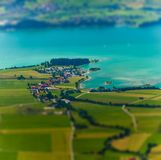 Меньший городок на побережье озера Стоковые Фото