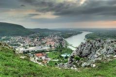 Меньший город от холма Стоковые Фотографии RF