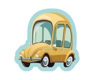 Меньший желтый автомобиль Германии Стоковое Изображение RF