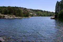 Меньший залив моря в Швеции Стоковые Изображения RF