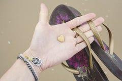 Меньший камень сердца форменный Стоковое фото RF
