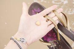 Меньший камень сердца форменный Стоковое Изображение RF