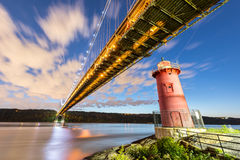 Меньший красный маяк - Нью-Йорк Стоковое Изображение