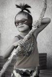 Меньший мальчик Ninja Стоковое Фото