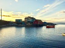 Меньший дом на гавани Стоковое Изображение