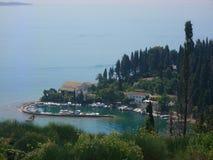 Меньший порт на Корфу стоковое изображение rf