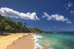 Меньший пляж, парк штата Makena, южный Мауи, Гаваи, США Стоковая Фотография RF