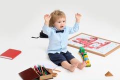 Меньший ребенок мальчика образования Стоковая Фотография