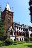 Меньший сад дворца с историческим дворцом как ратуша сегодня, weinheim, южная Германия стоковое изображение rf