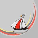 Меньший смешной корабль sailing Стоковое Изображение RF