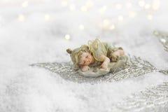 Меньший спать ангела Стоковые Изображения