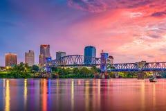 Меньший утес, Арканзас, горизонт США стоковые изображения