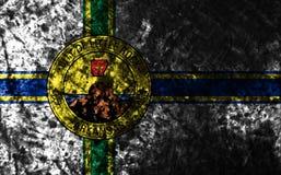 Меньший флаг grunge города утеса, положение Арканзаса, Соединенные Штаты Am стоковая фотография rf