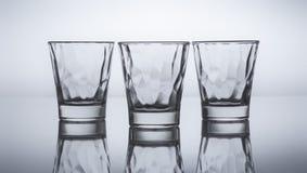 3 меньших стекла для питья Стоковая Фотография