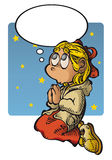 меньшяя молитва Иллюстрация вектора