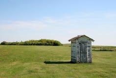 меньшяя прерия outhouse Стоковое Изображение