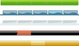 меню ассортимента горизонтальное Стоковое фото RF