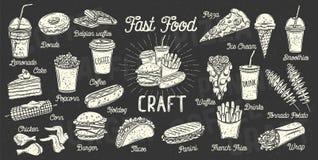 Меню быстро-приготовленное питания бесплатная иллюстрация
