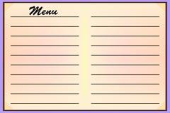 Меню для кафе-ресторанов Поставка, шаблон для дизайна также вектор иллюстрации притяжки corel Стоковое Фото