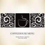 меню дома кофе Стоковое фото RF