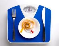 Меню диеты для тучных людей Стоковое Изображение RF