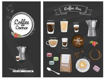 Меню иллюстрации деталя кофе Стоковое фото RF