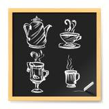 меню иллюстрации девушки кофе шаржа крышки кафа иллюстрация вектора