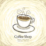 Меню кофейни иллюстрация штока