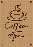 меню кофе Стоковое Изображение