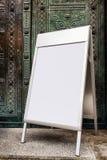 меню доски пустое Стоковая Фотография