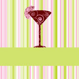 меню питья карточки Стоковые Изображения RF