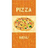 Меню пиццы Стоковое Изображение