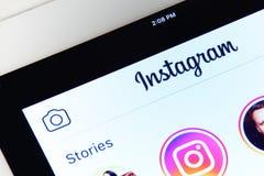 Меню применения Instagram Стоковое фото RF