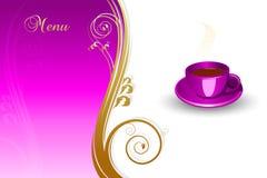 меню принципиальной схемы кофе Стоковые Фотографии RF