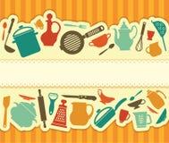 Меню ресторана - иллюстрация Стоковая Фотография RF