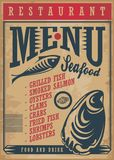 Меню ресторана морепродуктов бесплатная иллюстрация