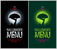Меню ресторана Halloween. иллюстрация штока