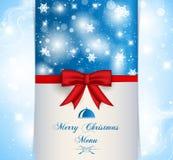 Меню с Рождеством Христовым Стоковое фото RF