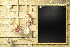 Меню, фото или приветствия рождества Стоковые Изображения RF
