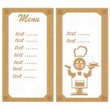 меню шеф-повара Стоковая Фотография RF