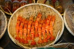 Меню Япония креветки Стоковые Изображения RF