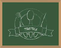 Меню Chalkboard Стоковые Изображения