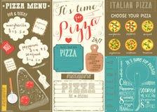 Меню Placemat пиццы Стоковые Фотографии RF