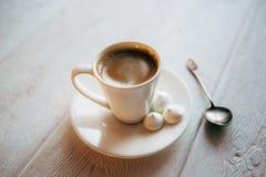 Меренга и кофе Стоковое Изображение RF